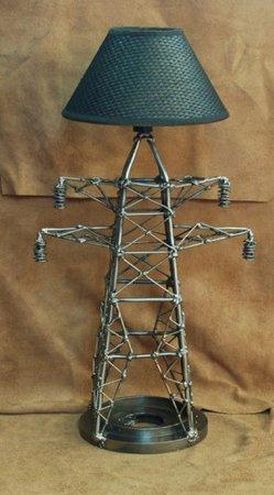 металлическая настольная лампа hand made