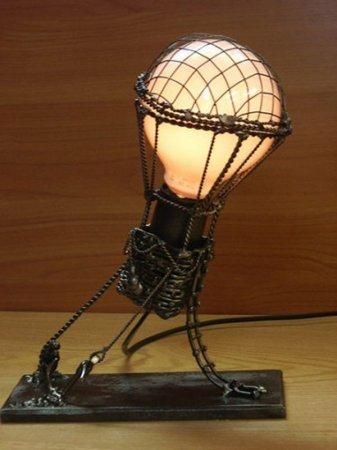 воздушный шар-лампочка