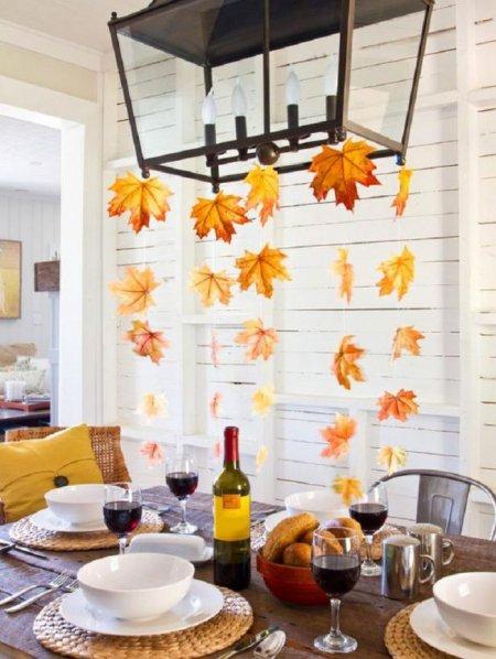 как украсить квартиру осенью