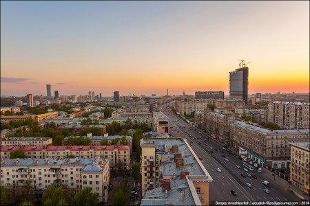 Москва с высоты птичьего полета