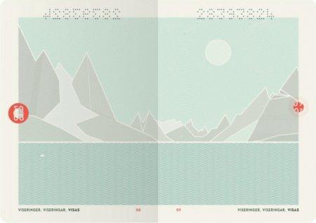 внутренние страницы норвежского паспорта