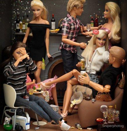вечеринка у Барби в доме