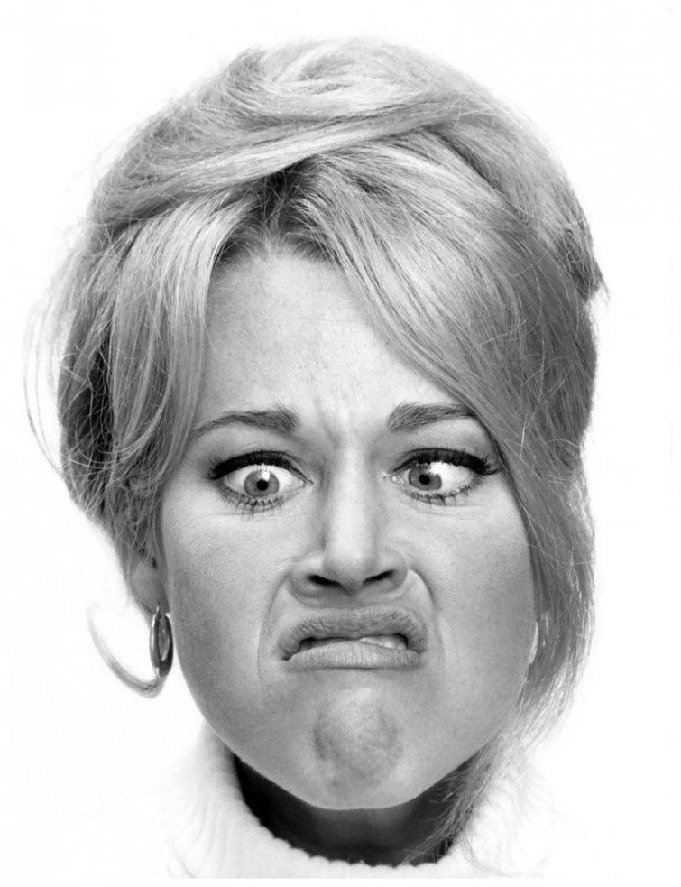 Картинка женское лицо смешное