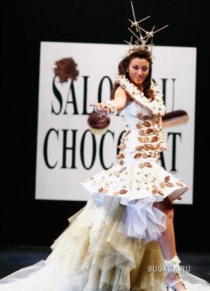девушка в белом шоколаде
