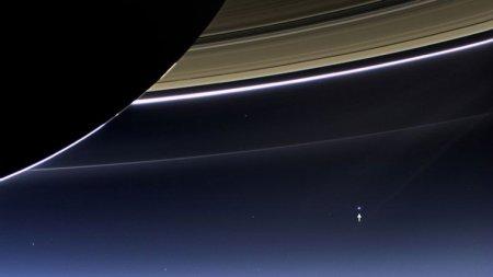 Земля с поверхности Сатурна