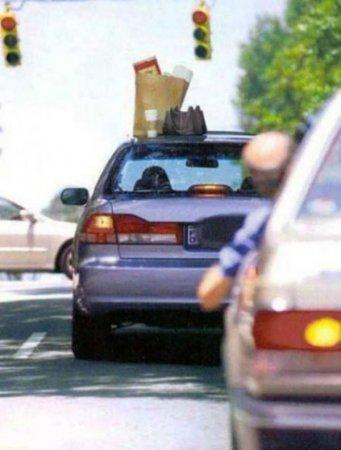 продукты на машине