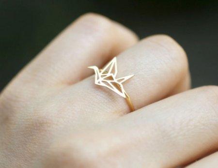 кольцо с птицей