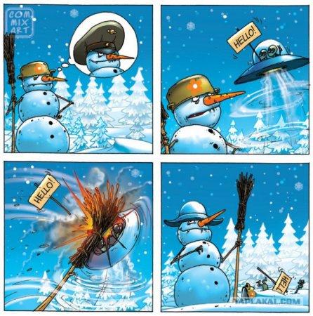 снеговик и инопланетяне