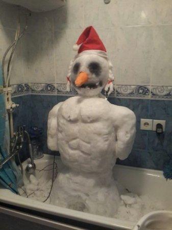 снеговик в ванной