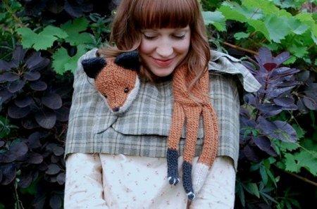 Забавные зимние шарфы
