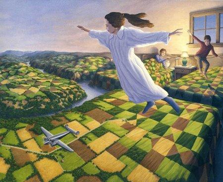 летающая девочка