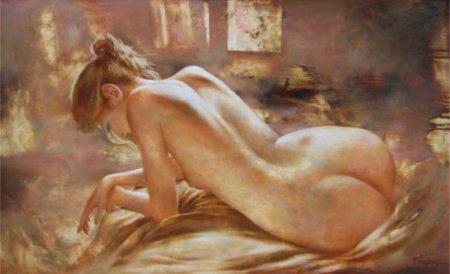 дама в постели