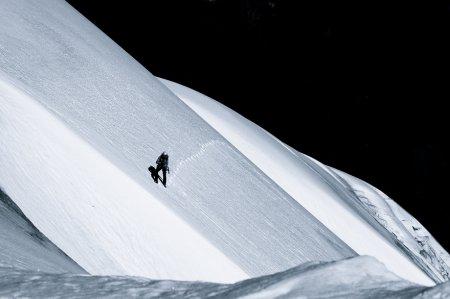 человек на склоне