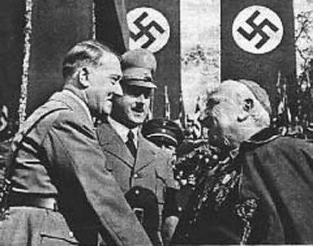 в 1933 году Католическая церковь и Германский рейх подписали союз, в соответствии с которым Рейху гарантировалась защита Церкви