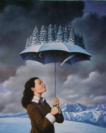 зонт с лесом