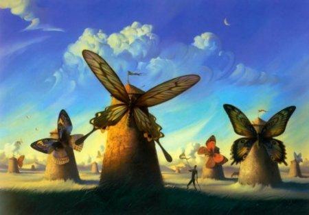 бабочка мельница