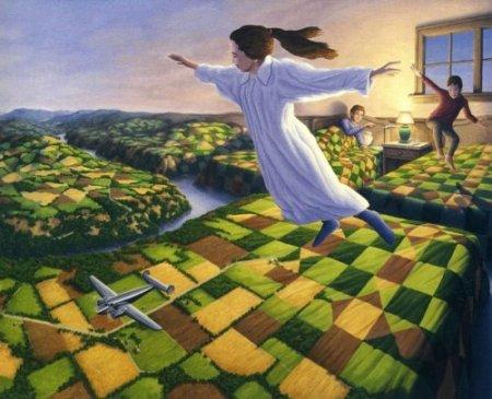 летая над землей