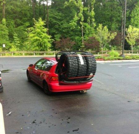 колеса больше машины