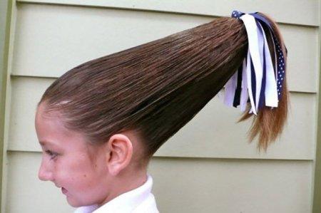 шиньон в волосах