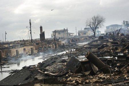 разрушенный поселок