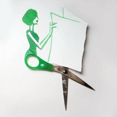 зеленые ножницы