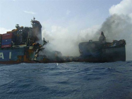 сгоревший корабль