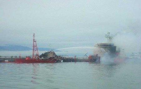 спасение горящего судна