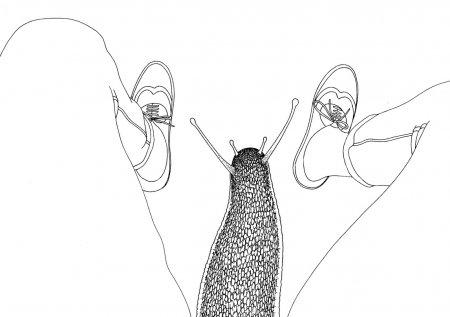 улитка между ног