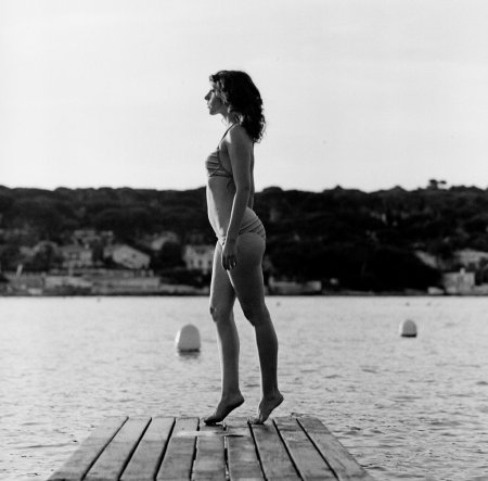 дама в купальнике