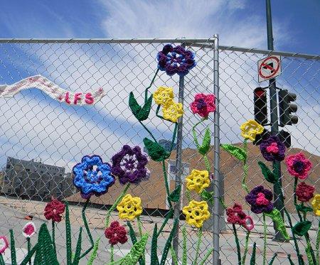 Необычное трикотажное граффити