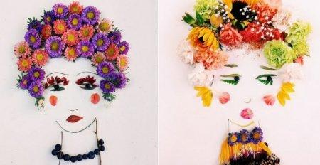 цветочные портреты