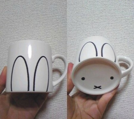 чашка-зайка