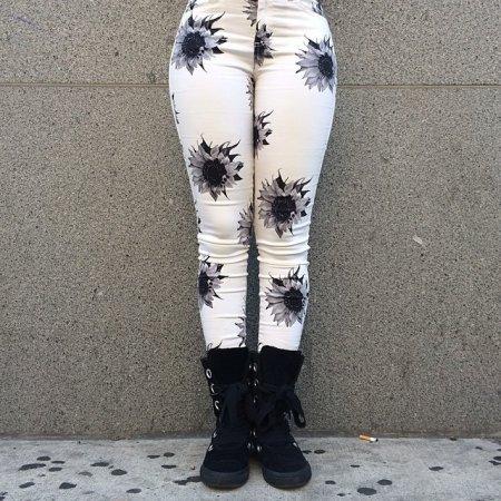штаны в подсолнухах