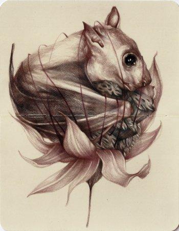 Мышка в цветке