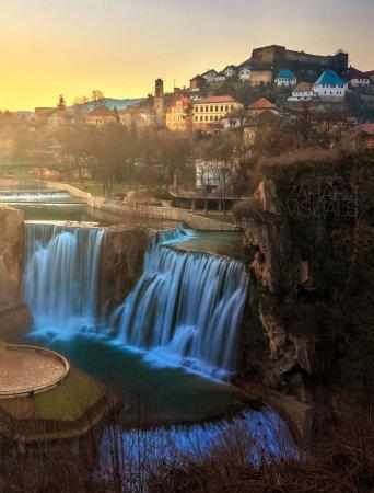 природный водопад