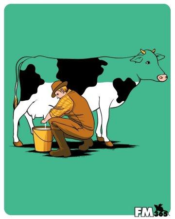 Корова на половину пуста