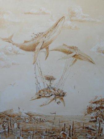 Черепаха на китах