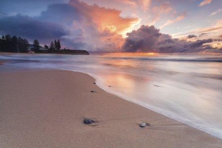 восход на пляже