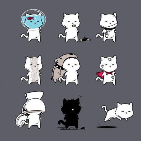 Коты в разных ситуациях