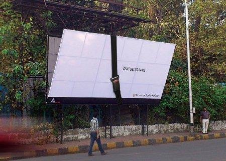 Социальная реклама в Индии: «Пристегнись!»