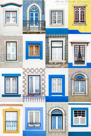 окна в синих тонах