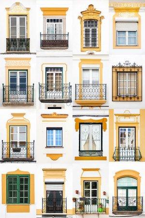 окна в желтых тонах