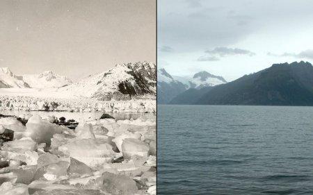 Северо-Западная Аляска. Слева: август 1940 года, справа: август 2005 года