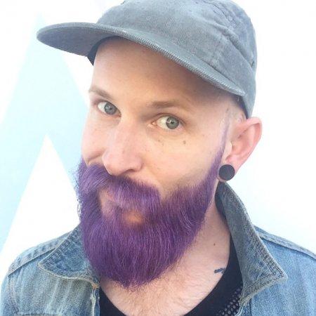 красивая сиреневая борода