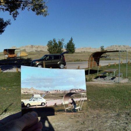 Южная Дакота. Палаточный лагерь Кедр Пасс в национальном парке Badlands