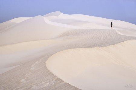 белый песок