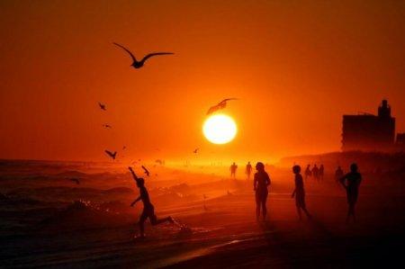 Закат на пляже в Пенсаколе, США
