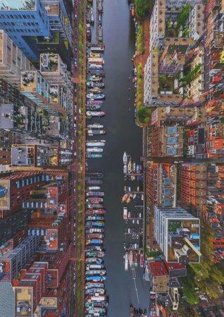 Район Вестердок, Амстердам, вид сверху