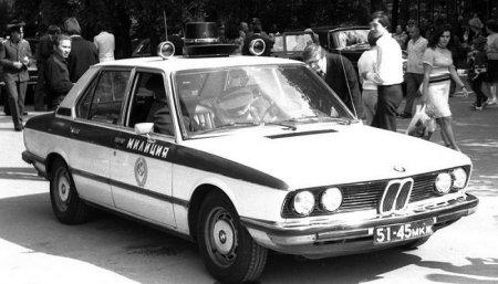 Гаишники на BMW, 1980-е годы.