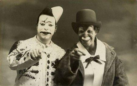 Парочка клоунов, 1900-е.